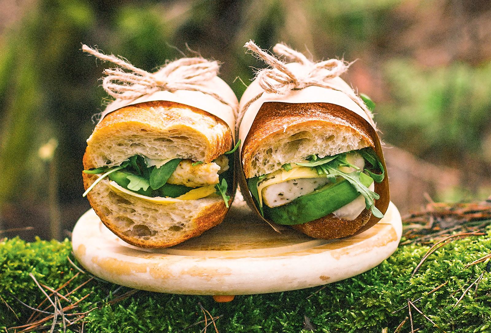 Сэндвичи с индейкой и авокадо