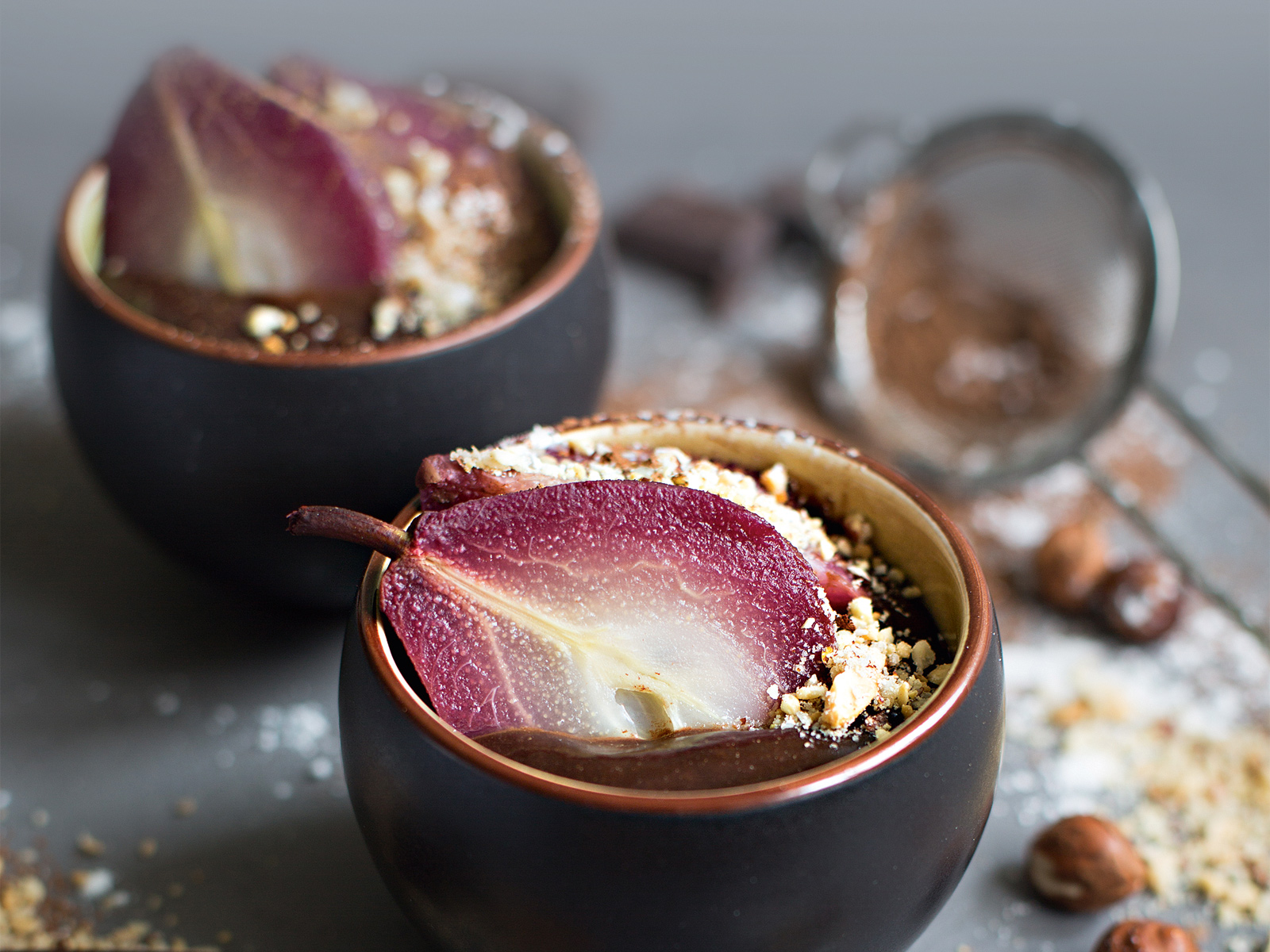 Винные груши в шоколаде