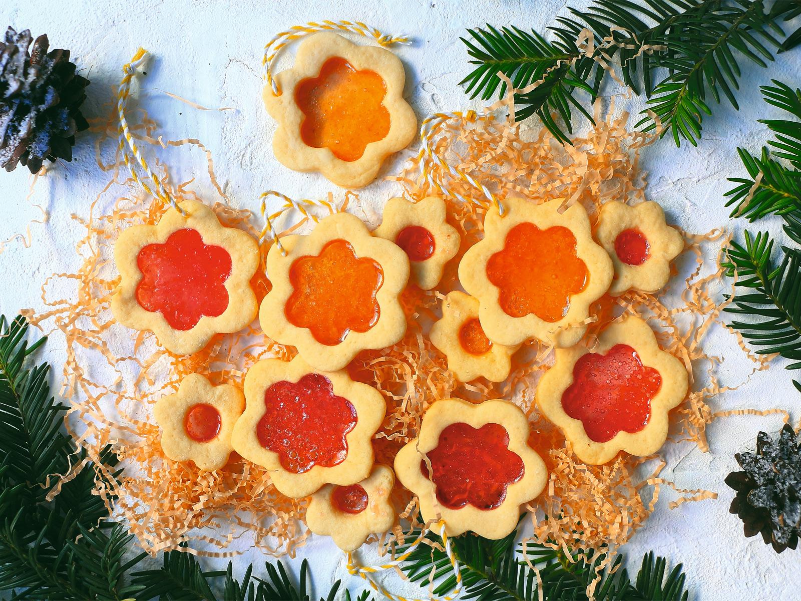 Витражное печенье с карамелью