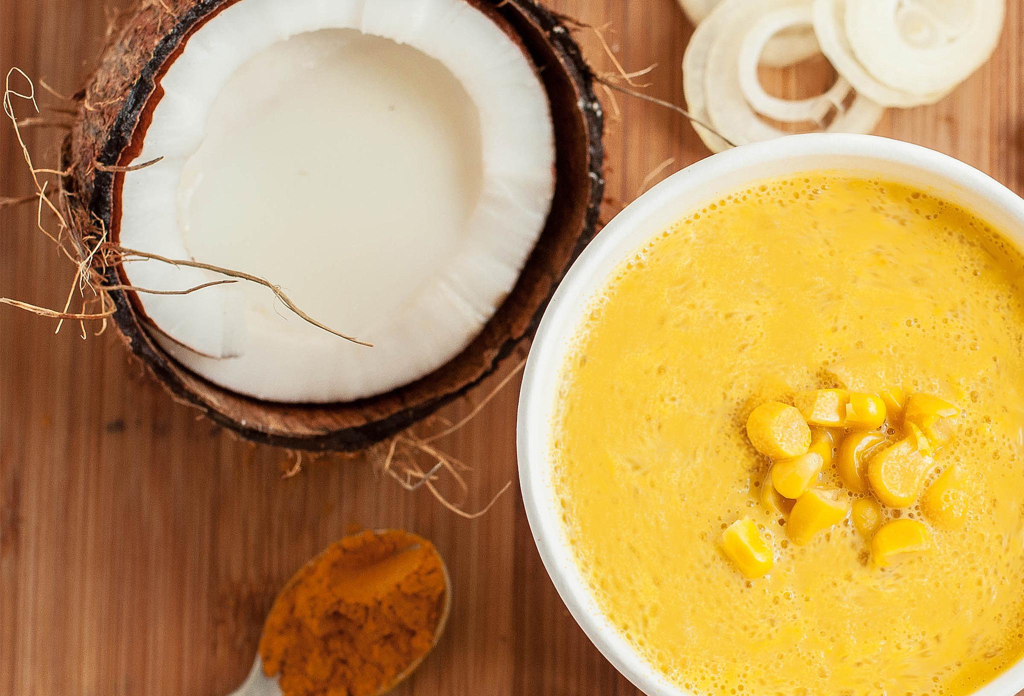 Кукурузная каша с тыквенным маслом и инжиром