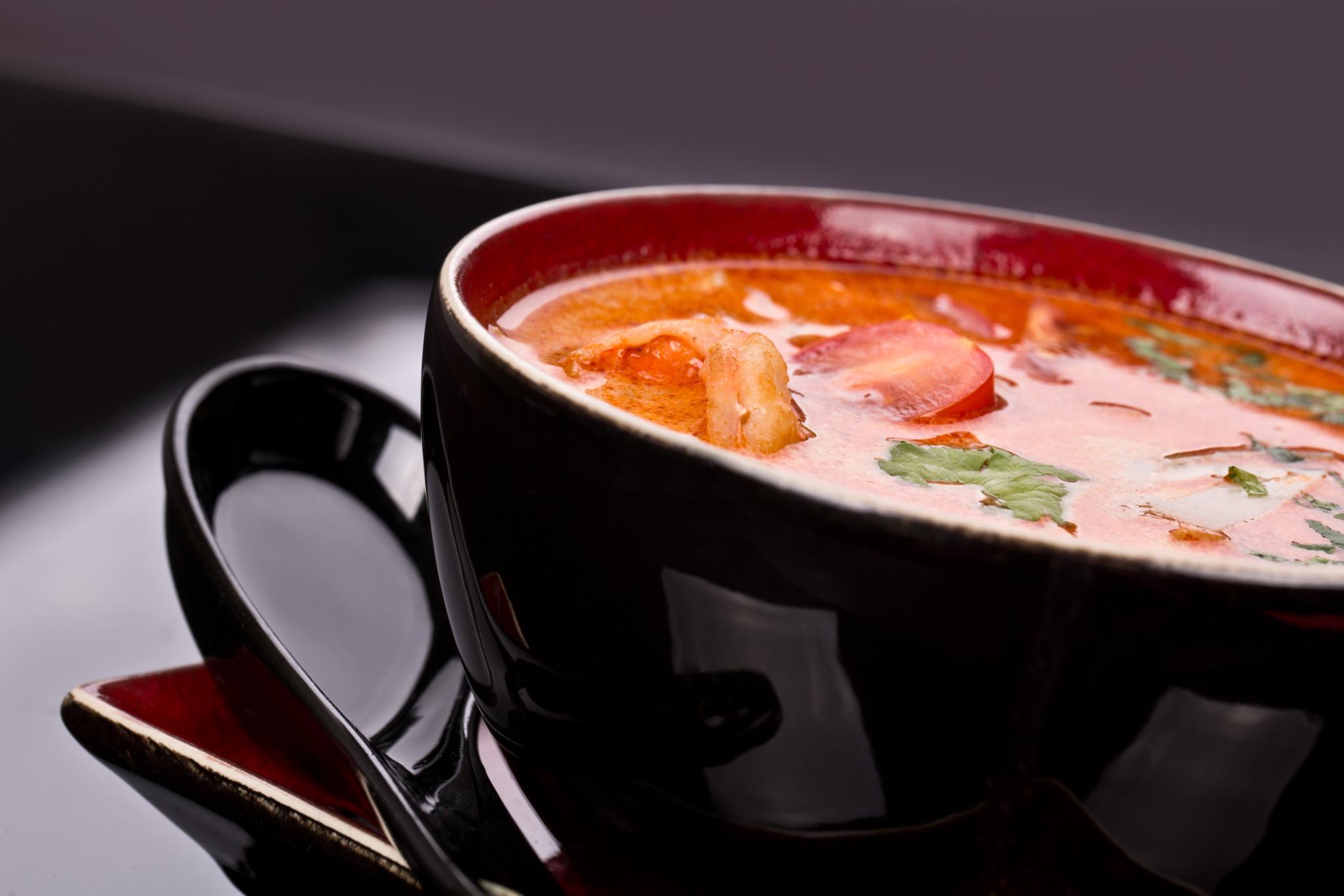 Суп с мисо-пастой