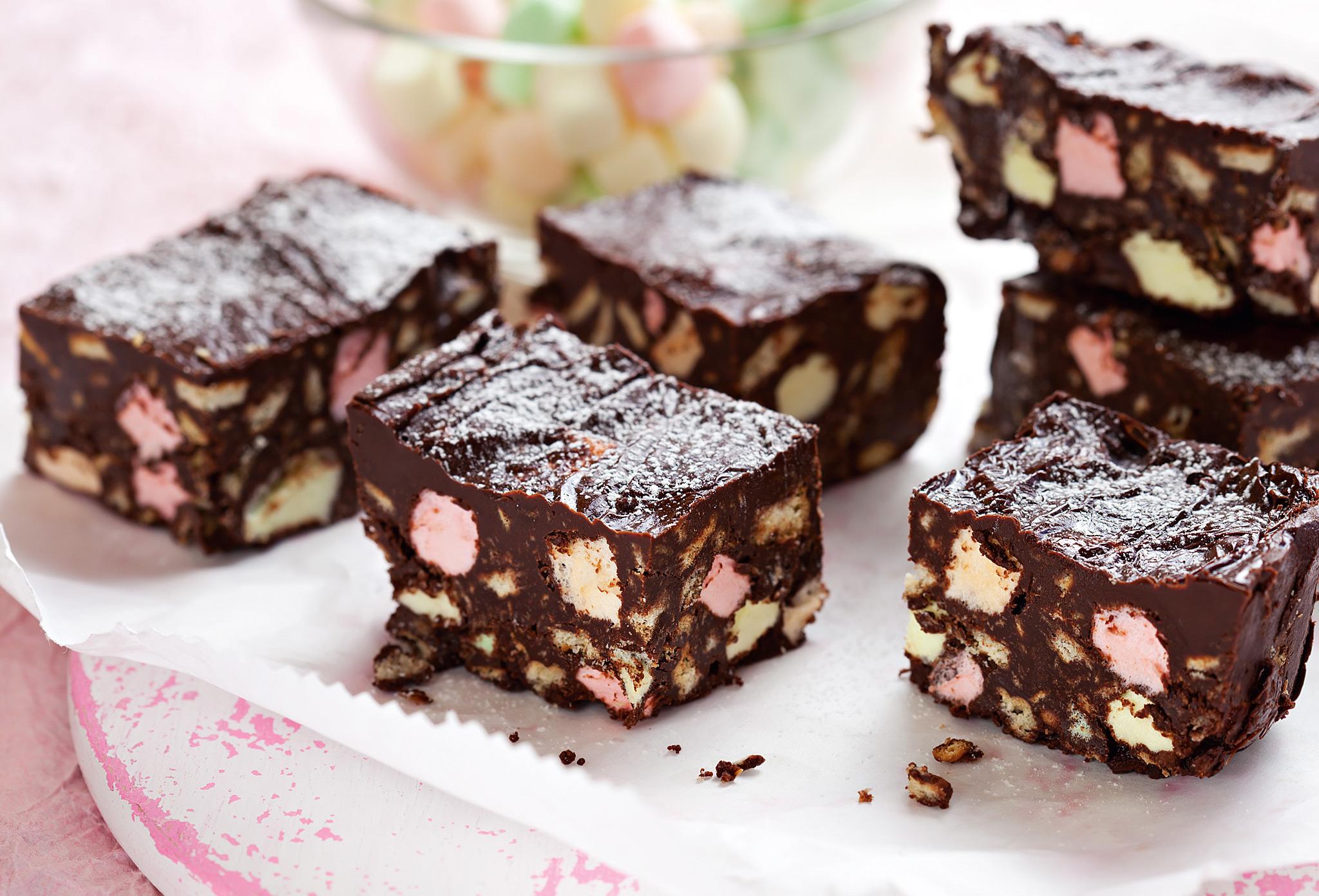 Шоколадный батончик с маршмеллоу