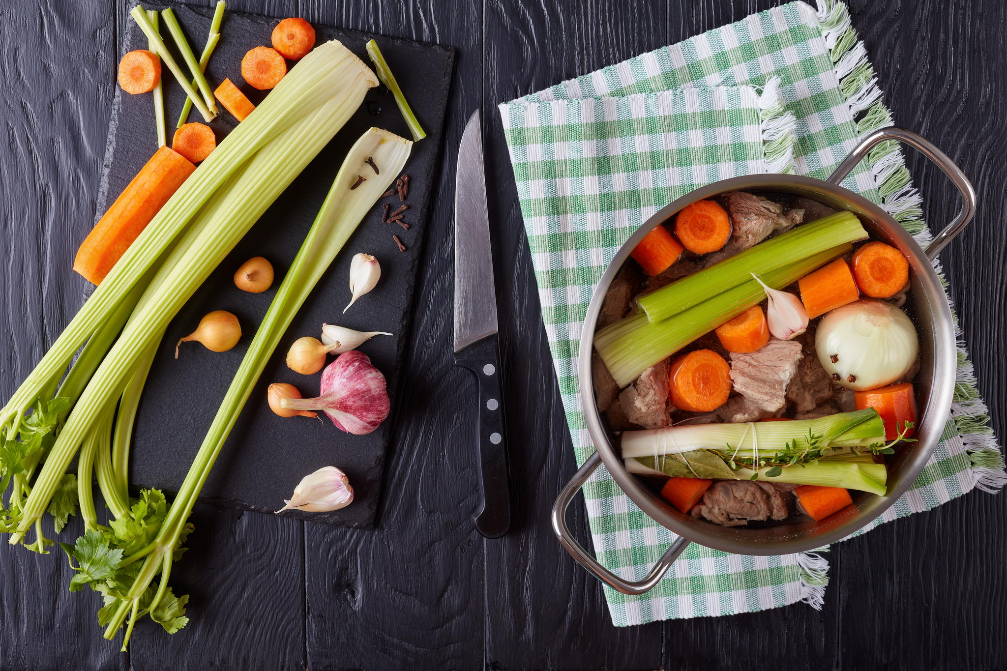 Говядина с жареными овощами