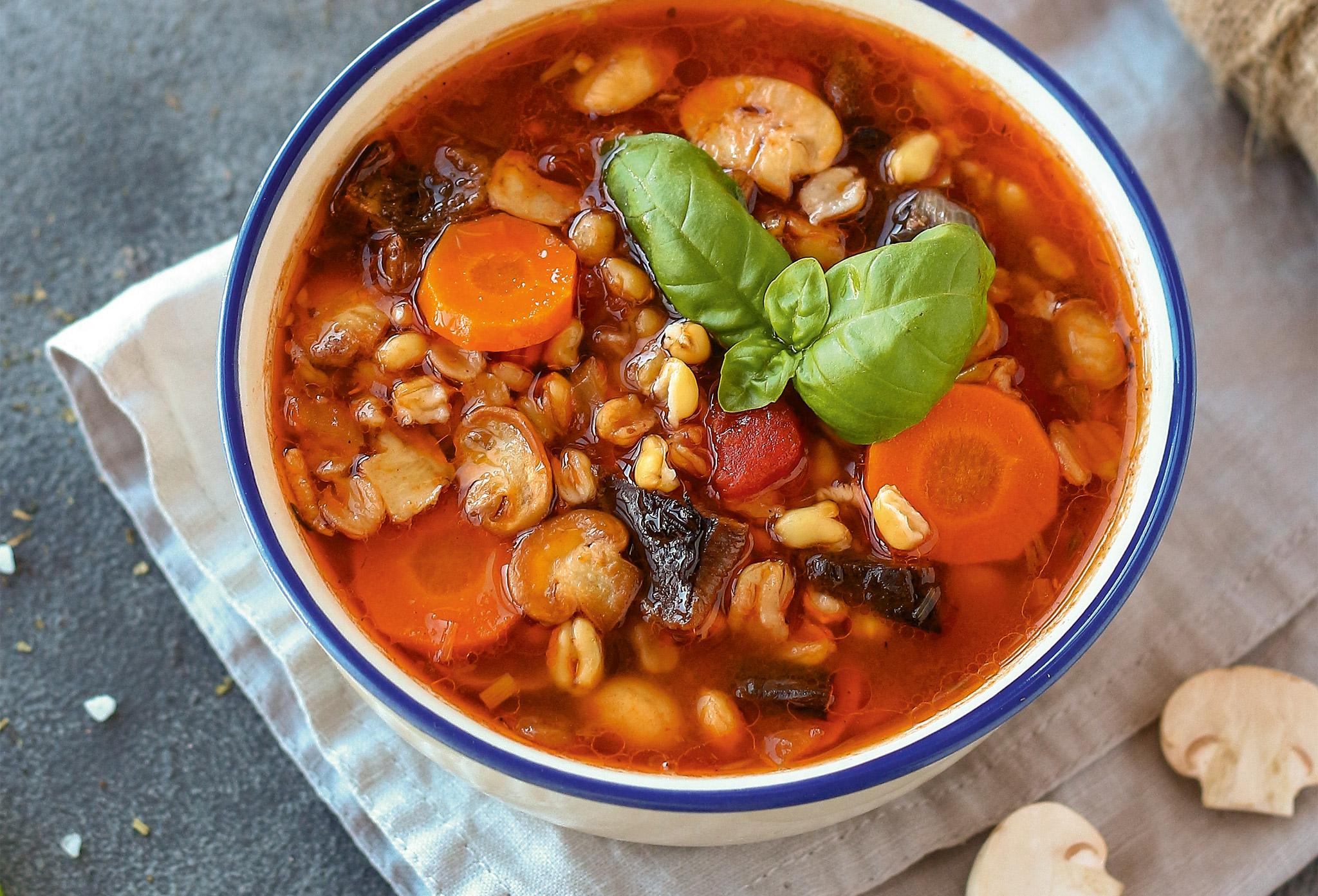 Грибной суп с камутом