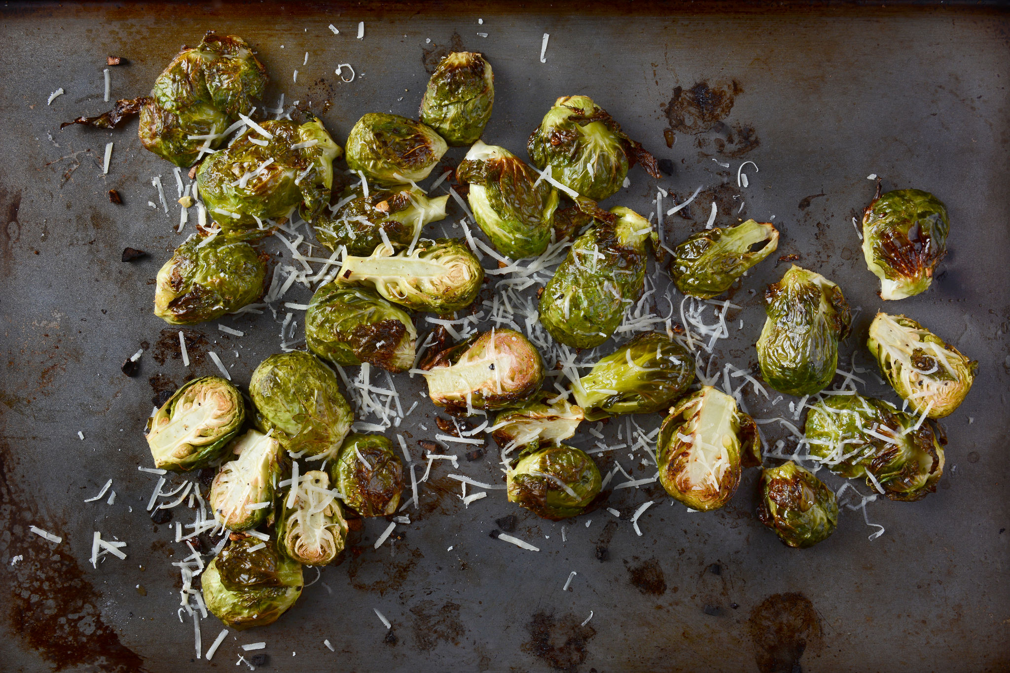 Запеченная брюссельская капуста с бальзамическим уксусом