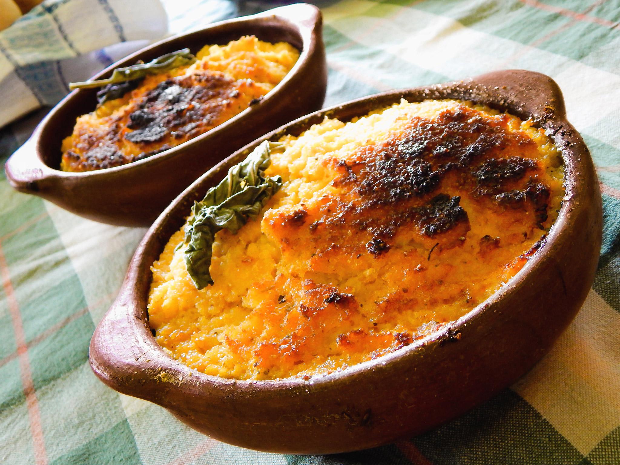 Чилийский пирог с кукурузой
