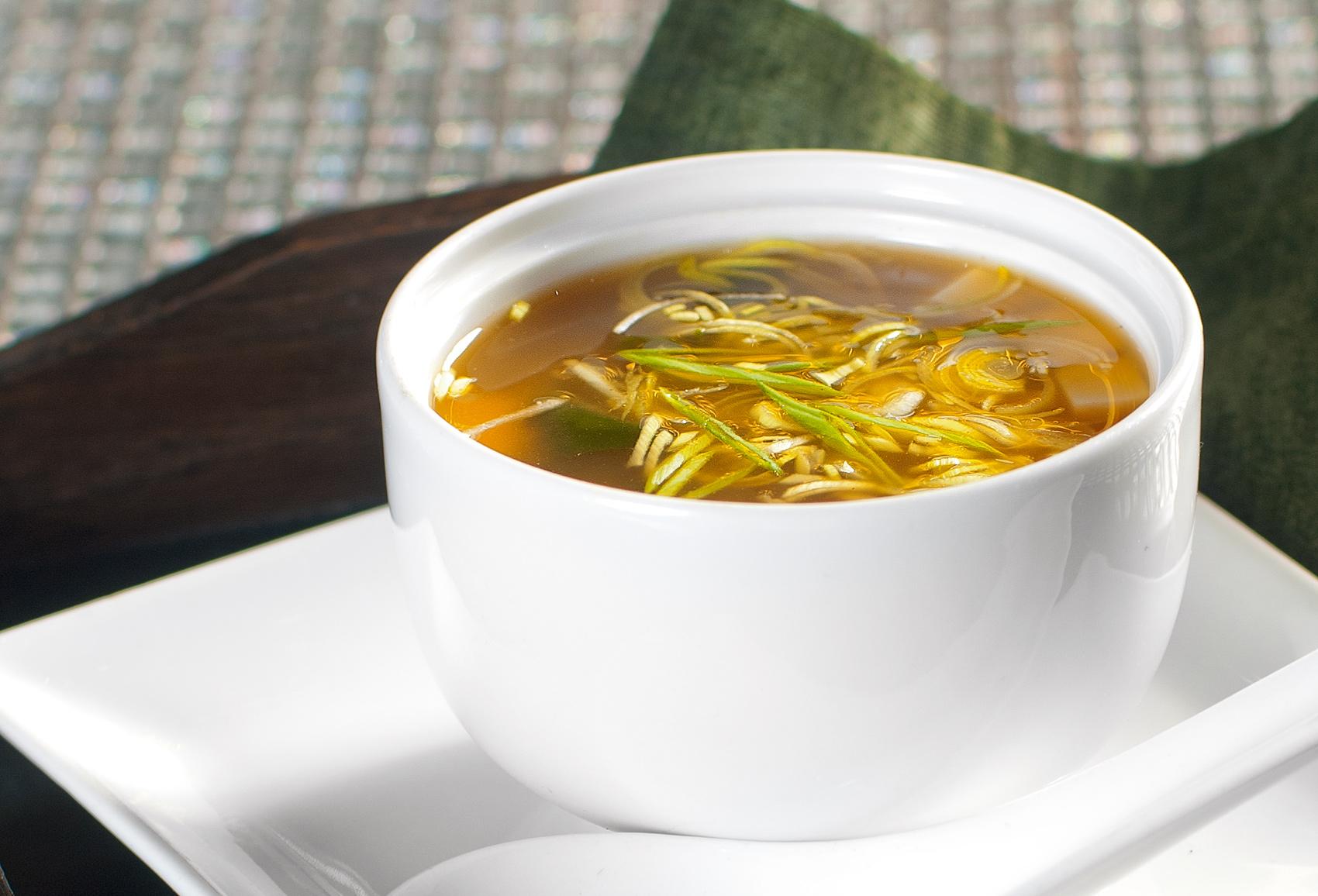 Мисо-суп с белым вином