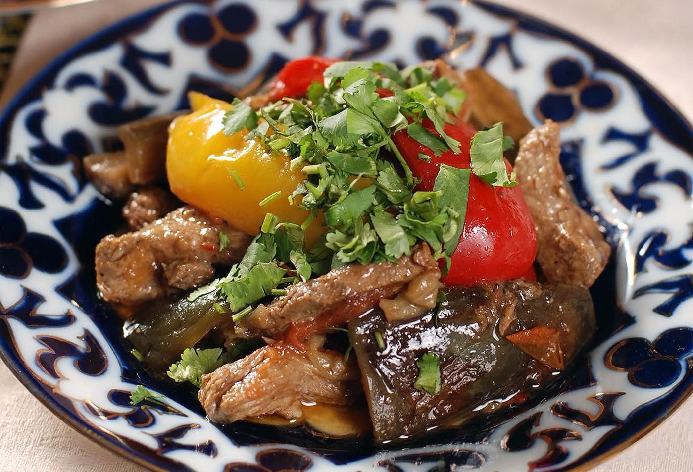Теплый салат «Симург»