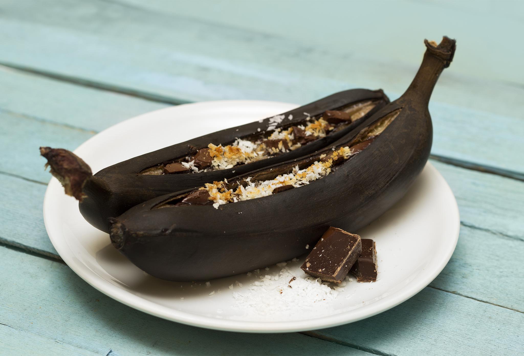 Запеченный в фольге банан