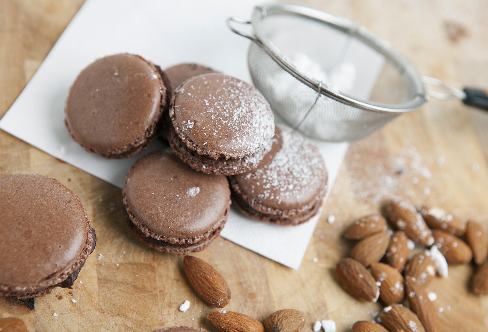 Шоколадно-цитрусовые макарон