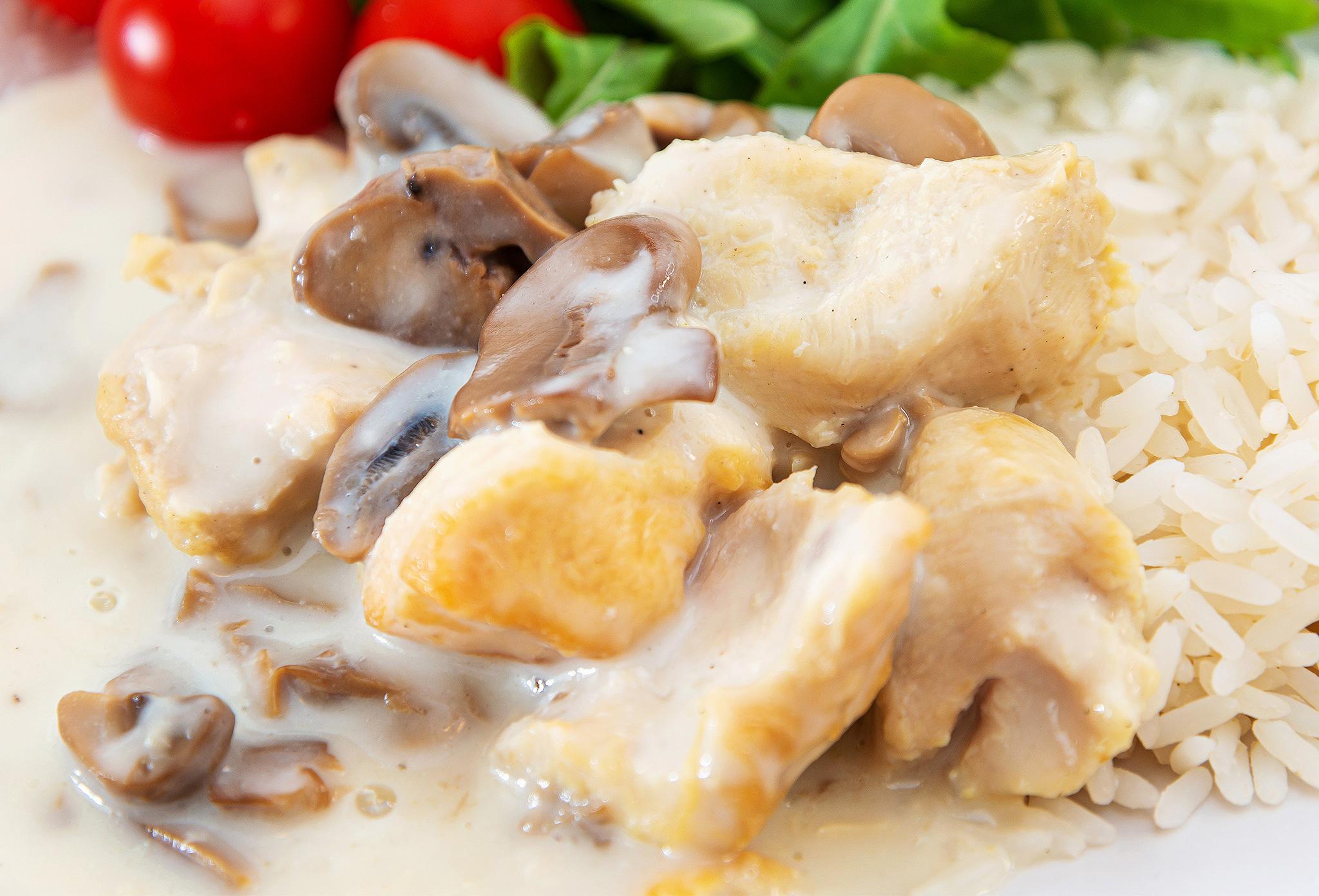 Бланкет из курицы и грибов с эстрагоном