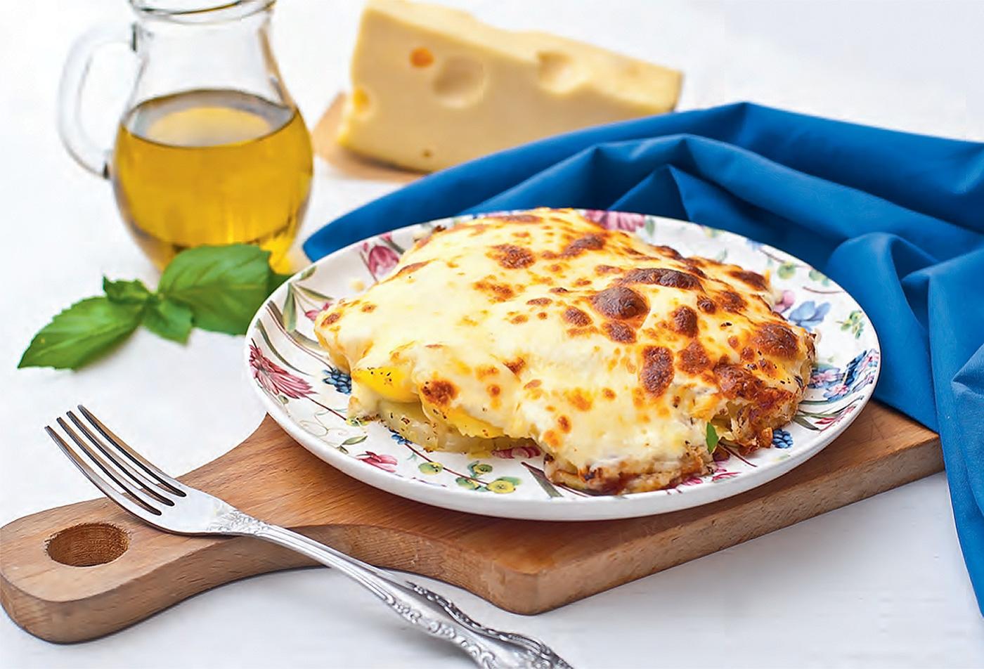 Картофель дофин с сыром