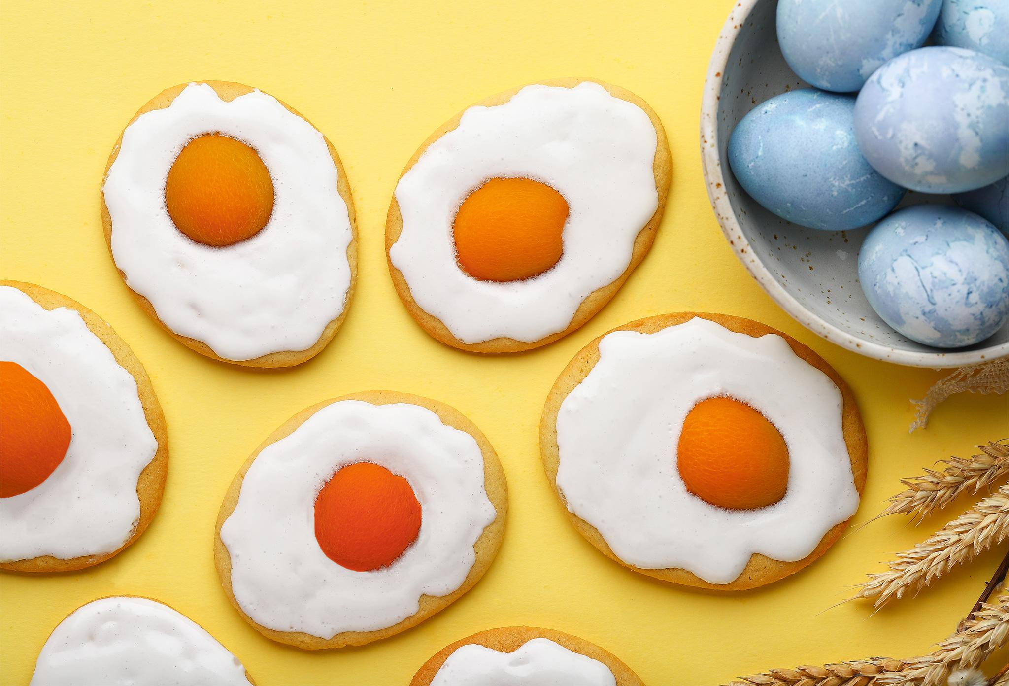 Печенье-«глазунья»