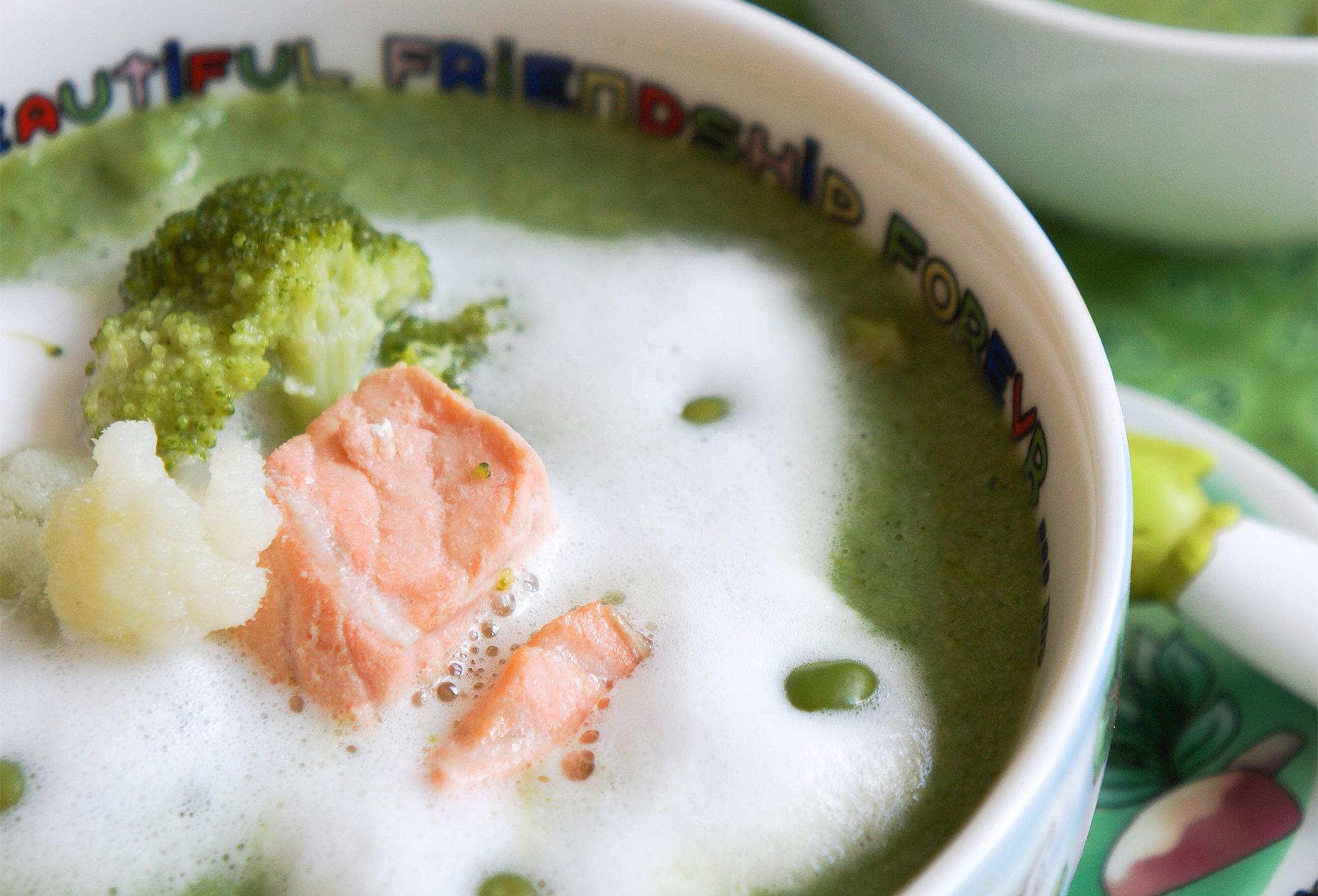 Суп-пюре с овощами и семгой