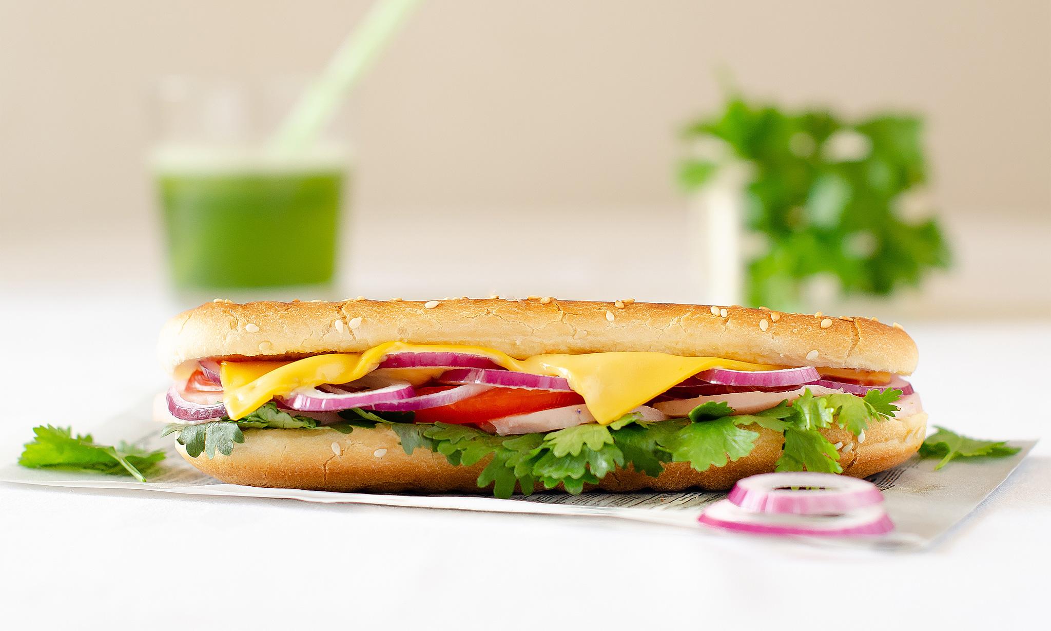Сэндвич в азиатском стиле