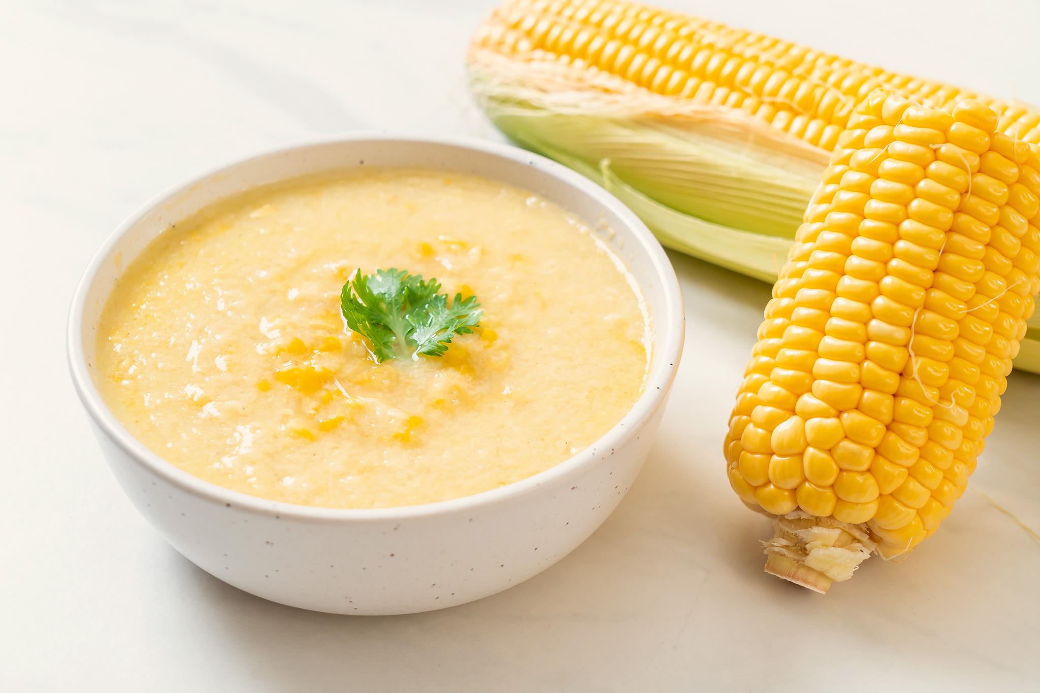 Крем-суп из молодой кукурузы с кокосовым молоком