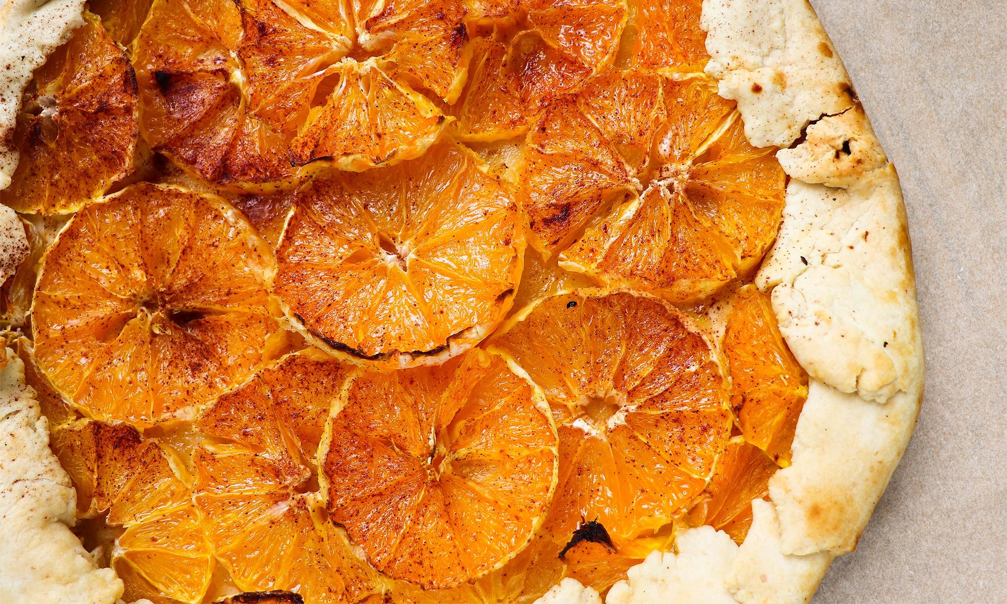 Ванильно-апельсиновый пирог-перевертыш