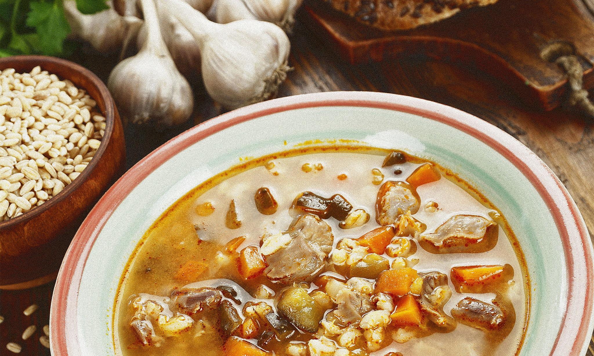 Суп с потрошками по‑жегловски
