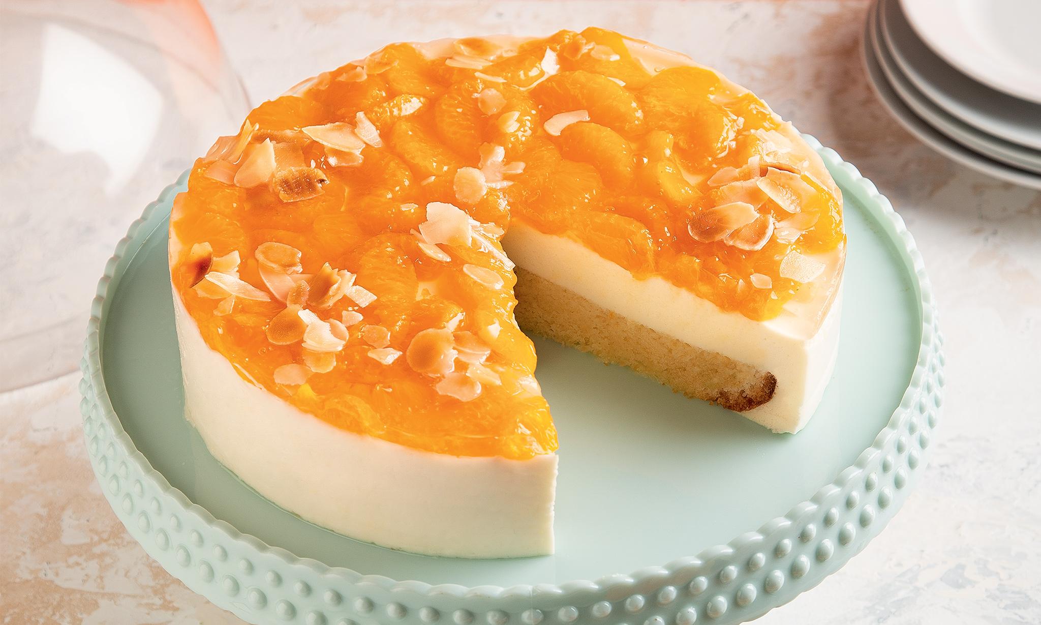 Йогуртовый торт с мандаринами