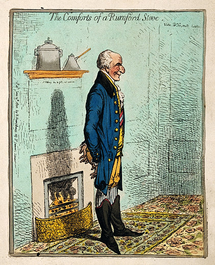 Sir Benjamin Thompson Count von Rumford. Coloured etching b Wellcome V0005803 4 result