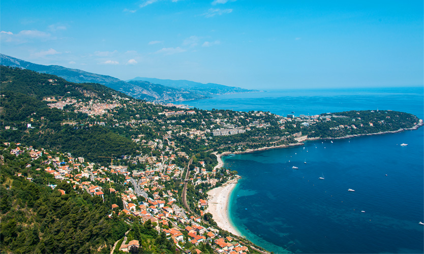 Menton town in French Riviera