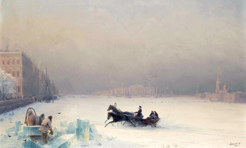 Aleksandr II na zamerzshei Neve 1890