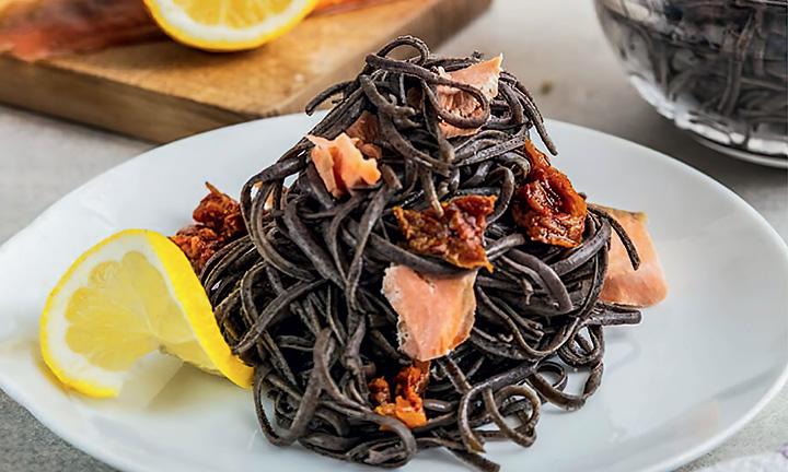 Spagetti s lososem