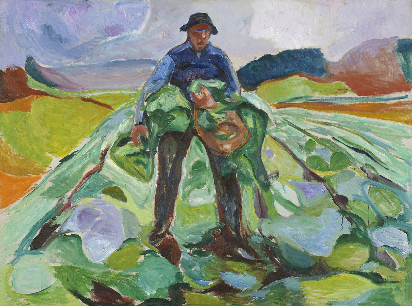 Edvard Munch Man in the Cabbage Field