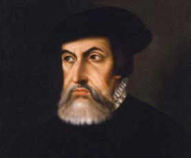 Retrato de Hernan Cortes