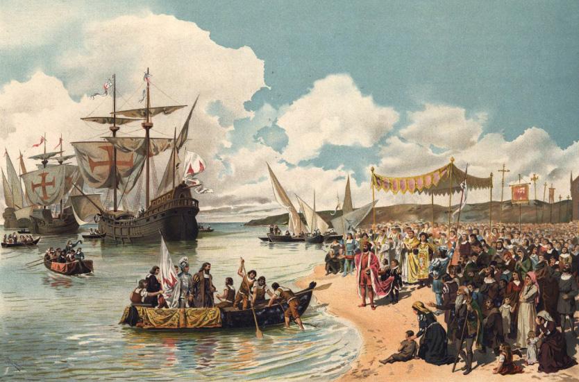partida de Vasco da Gama para a Índia em 1497